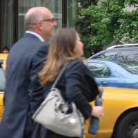 Video: Fans Boo Brian Frons as He Leaves ABC Upfronts