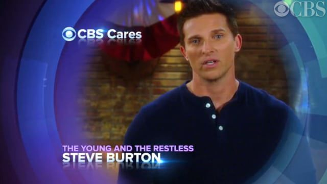 Steve Burton, The Young and the Restless, CBS Cares
