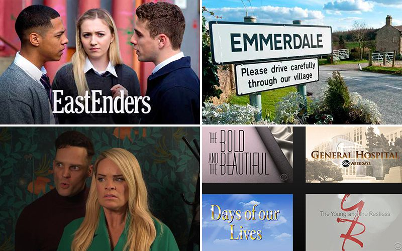 EastEnders, Emmerdale, Hollyaoks, General Hospital, The Bold and the Beautiful, Days of our Lives, The Young and the Restless